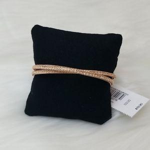 Rose Gold Crisscross Mesh Cuff Bracelet  NWT